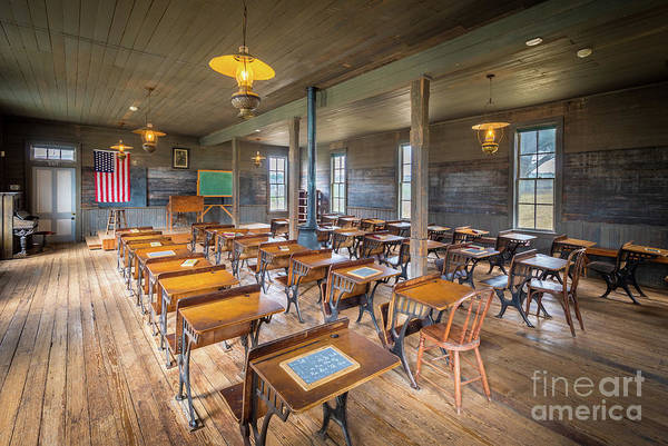 Pioneer School Photograph - Old Schoolroom by Inge Johnsson