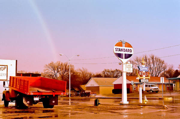 Photograph - Old Signs At The Mother Road - Standard Oil And Motel - Route 66 by Carlos Alkmin