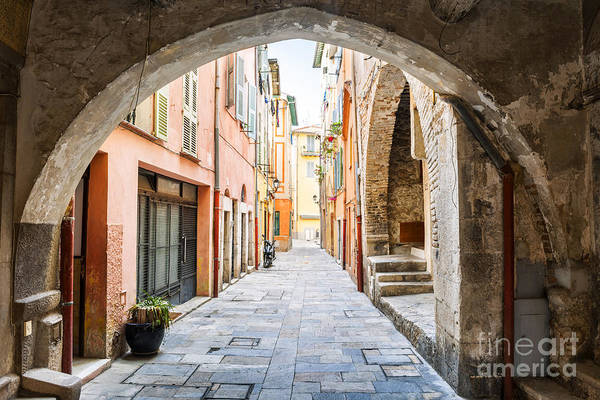 Photograph - Old Street In Villefranche-sur-mer by Elena Elisseeva