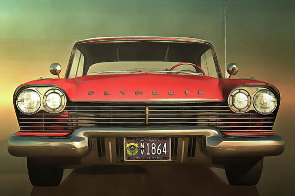 Painting - Old-timer Plymouth by Jan Keteleer