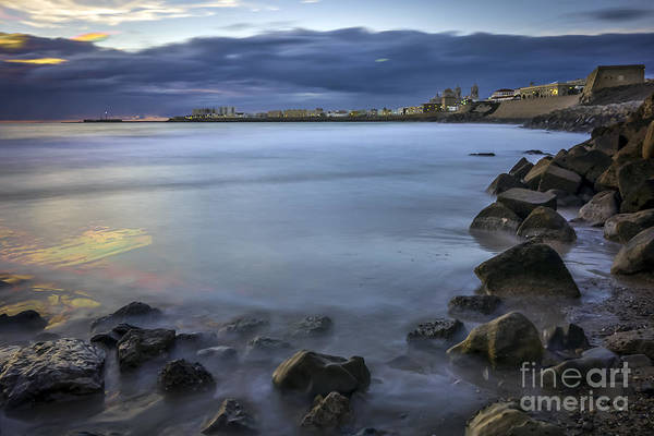 Photograph - Old Town Cadiz From Santa Maria Beach Spain by Pablo Avanzini