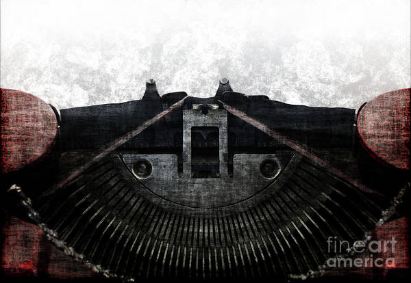 Wall Art - Photograph - Old Typewriter Machine In Grunge Style by Michal Boubin
