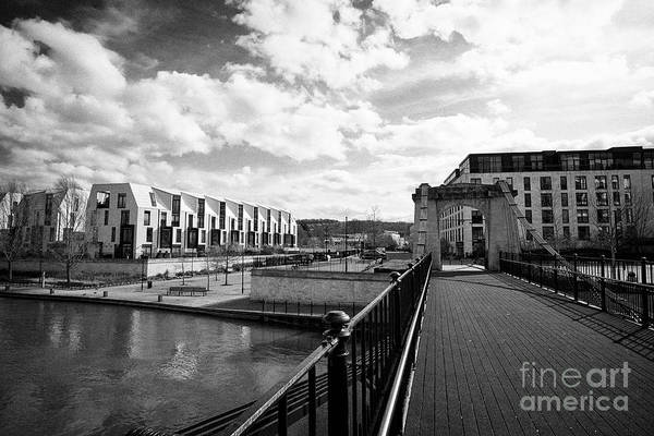 Taper Photograph - old victoria bridge in the Bath Riverside Development urban regeneration of the old Stothert and Pit by Joe Fox