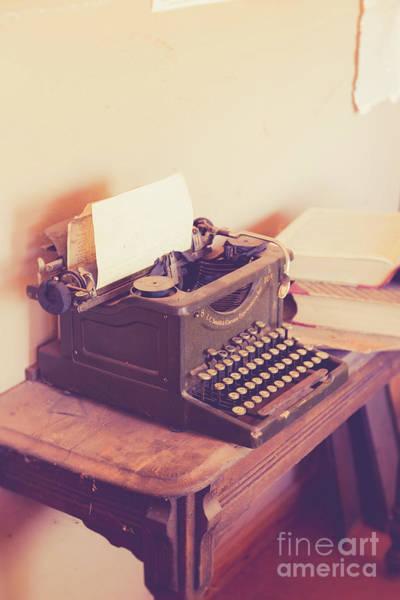 Typewriters Wall Art - Photograph - Old Vintage Typewriter Kanab Utah by Edward Fielding