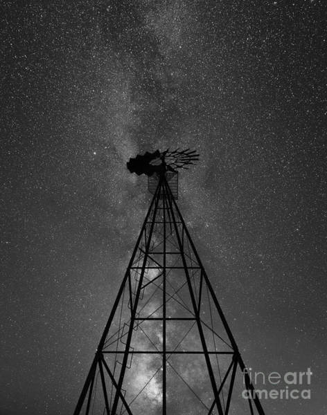 Germania Photograph - Old Windmill Under The Milky Way by Michael Ver Sprill