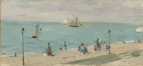 Wall Art - Painting - On The Beach by Berthe Morisot