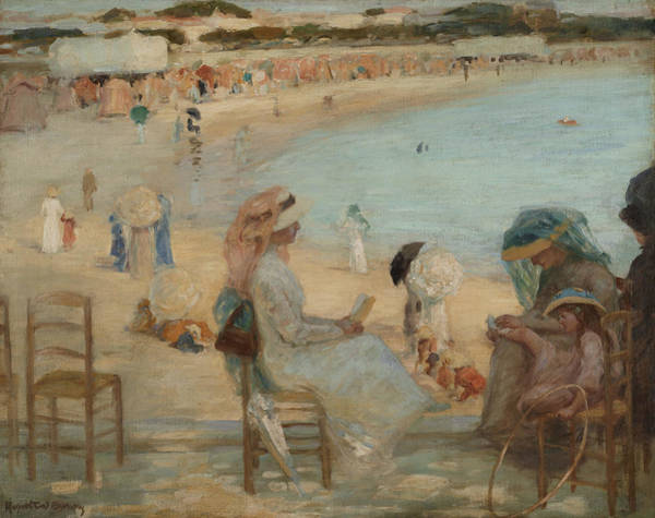 Painting - On The Beach by Rupert Bunny