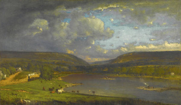 Painting - On The Delaware River by George Inness