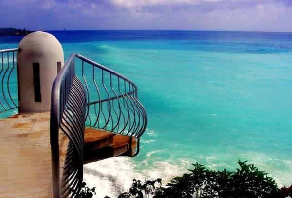 St. Maarten Photograph - On The Edge by Karen Wiles