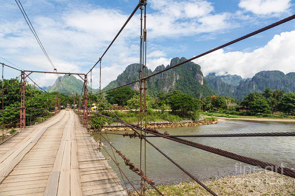 Photograph - On The Road In Laos by Didier Marti
