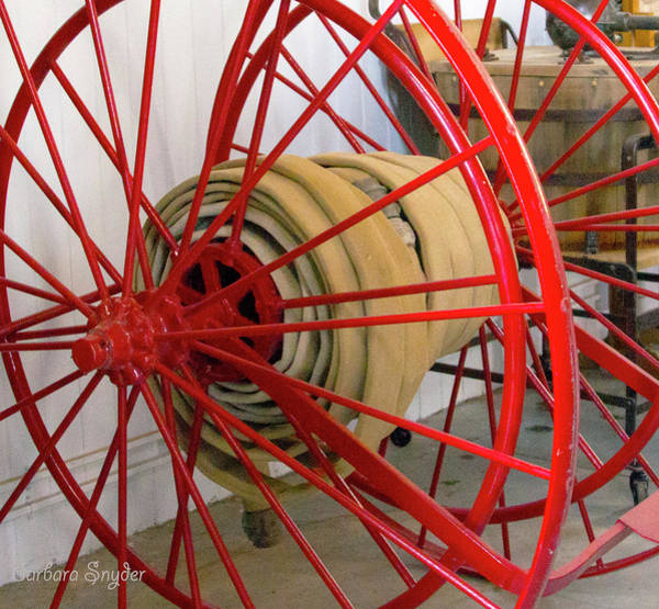 Wall Art - Photograph - One Alarm Fire Hose by Barbara Snyder