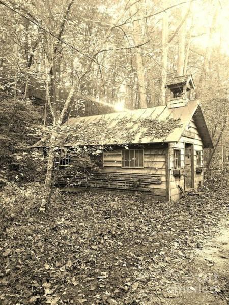 Pioneer School Photograph - One Room School House Gnawbone Indiana by Scott D Van Osdol