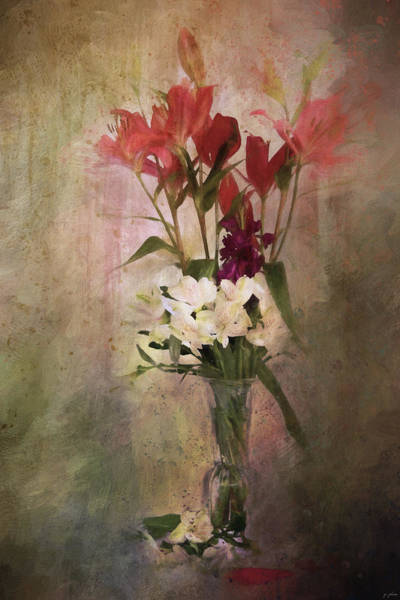 Flowers In A Vase Photograph - Open For Beauty by Jai Johnson