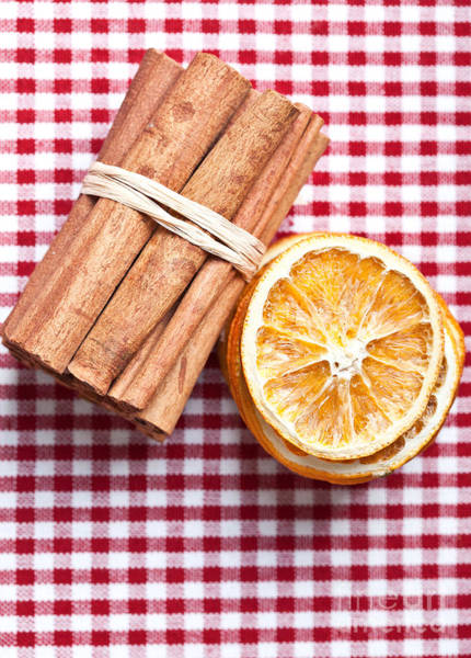 Baking Photograph - Orange And Cinnamon by Nailia Schwarz