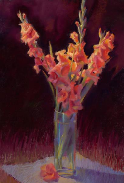 Orange Gladiolus Art Print by Cathy Locke