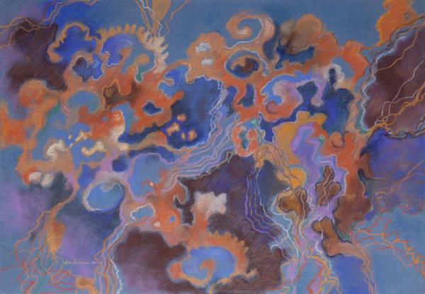 Orange Movement Art Print