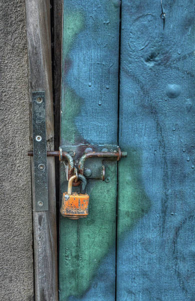 Photograph - Orange Padlock by Michael Kirk