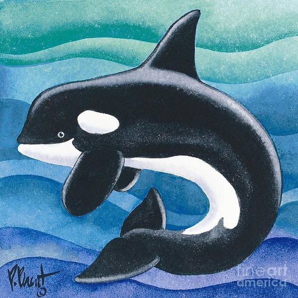 Killer Whales Wall Art - Painting - Orca Friend by Paul Brent
