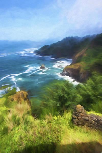 Wall Art - Painting - Oregon Coast by Bonnie Bruno