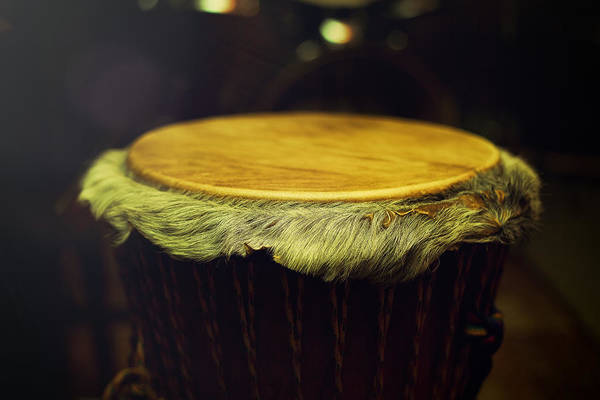 Djembe Wall Art - Photograph - Original African Djembe Drum With Leather Lamina With Beautiful  by Jozef Klopacka