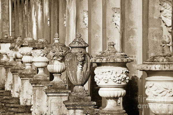 Longwood Gardens Photograph - Ornate Garden Urns. by John Greim