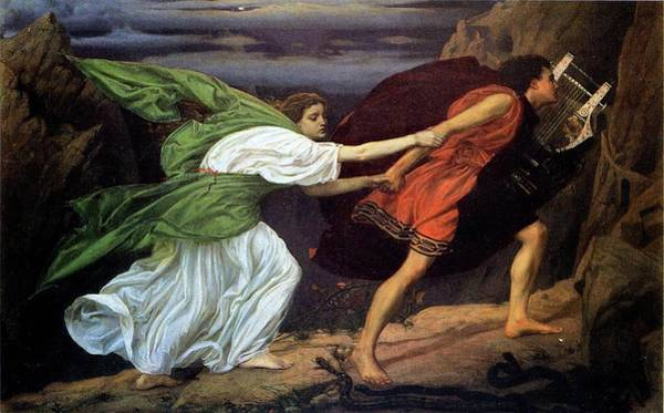 Wall Art - Painting - Orpheus And Euridice by Edward Poynter