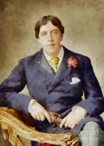 Poetry Painting - Oscar Wilde, Literary Legend by Sarah Kirk