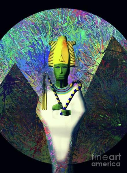 Wall Art - Digital Art - Osiris, God Of Egypt by Raphael Terra