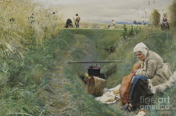 Wall Art - Painting - Our Daily Bread, 1886 by Anders Leonard Zorn