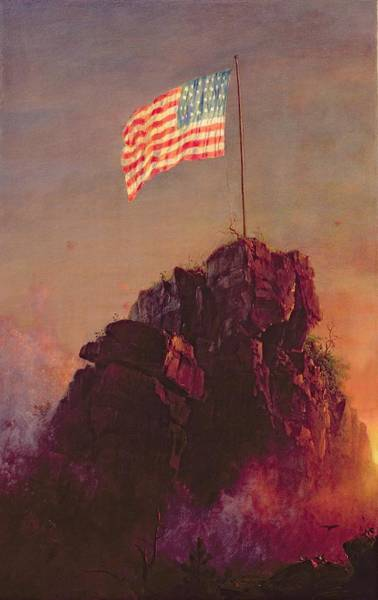 Patriotism Painting - Our Flag by Frederic Edwin Church
