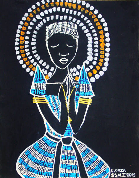 Mama Africa Wall Art - Painting - Our Lady Of Africa by Gloria Ssali