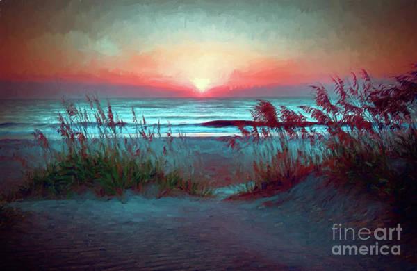 Wall Art - Digital Art - Outer Banks Sand Dune Sunrise Ap by Dan Carmichael