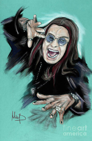 Wall Art - Painting - Ozzy Osbourne by Melanie D