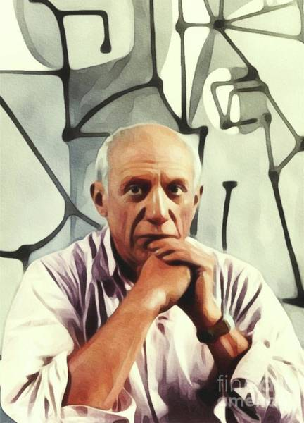Picasso Painting - Pablo Picasso, Artist by Mary Bassett