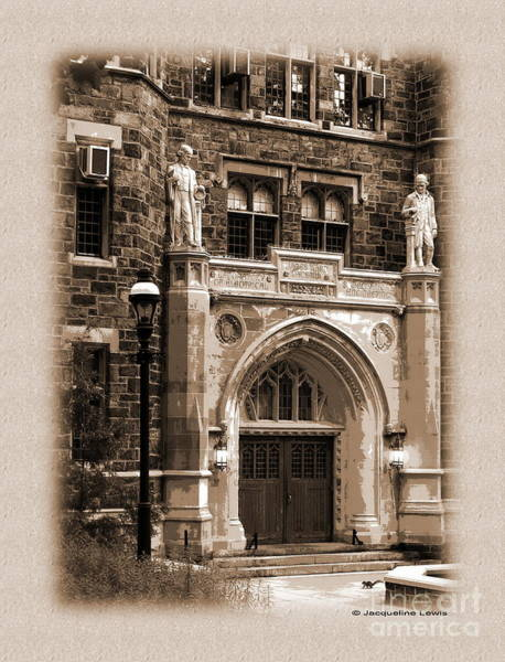 Lehigh University Wall Art - Photograph - Packard Laboratory - Sepia by Jacqueline M Lewis
