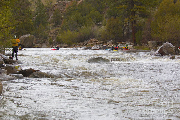 Photograph - Paddlefest On The Arkansas River In Buena Vista Colorado by Steve Krull