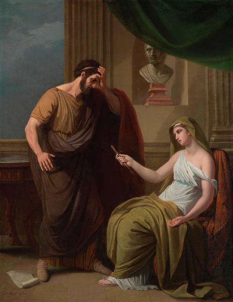 Major Painting - Paetus And Arria by Benjamin West