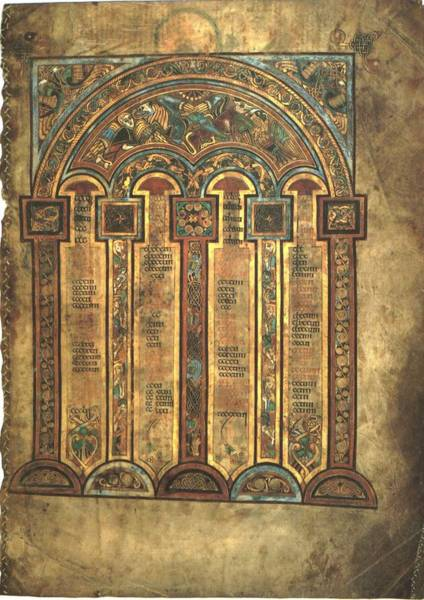 Wall Art - Drawing - Page From The Book Of Kells by Philip Ralley