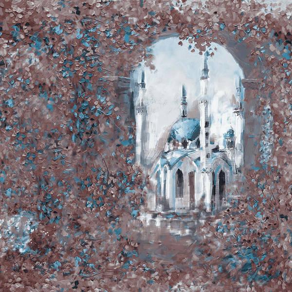 Wall Art - Painting - Painting 776 4 Qolsarif Mosque by Mawra Tahreem
