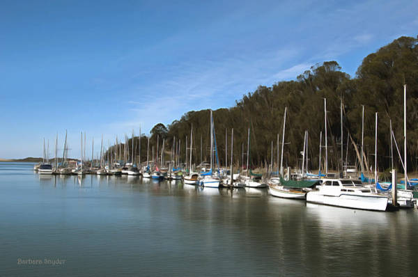 Wall Art - Photograph - Painting Bay Side Harbor by Barbara Snyder