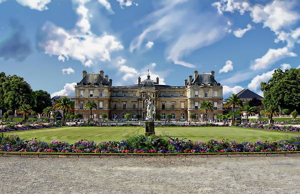 Photograph - Palais Du Luxembourg by Anthony Dezenzio