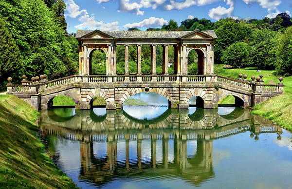 Palladian Bridge Nature Scene Art Print