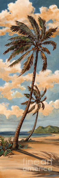 Ocean Breeze Wall Art - Painting - Palm Breeze I by Paul Brent