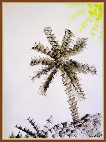 Painting - Palm Tree Abstract by Mhiss Little