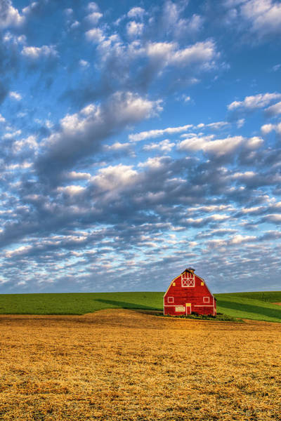 Wall Art - Photograph - Palouse Country Barn With Dramatic Cloudscape by John Trax