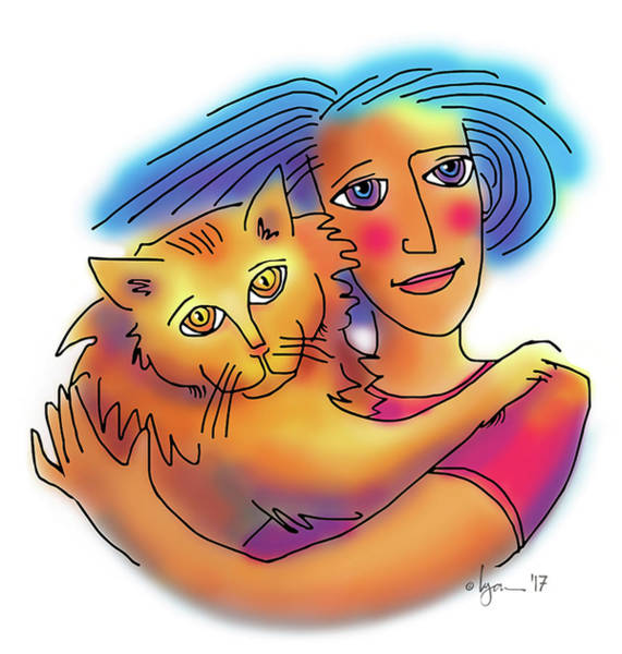 Drawing - Pals by Angela Treat Lyon