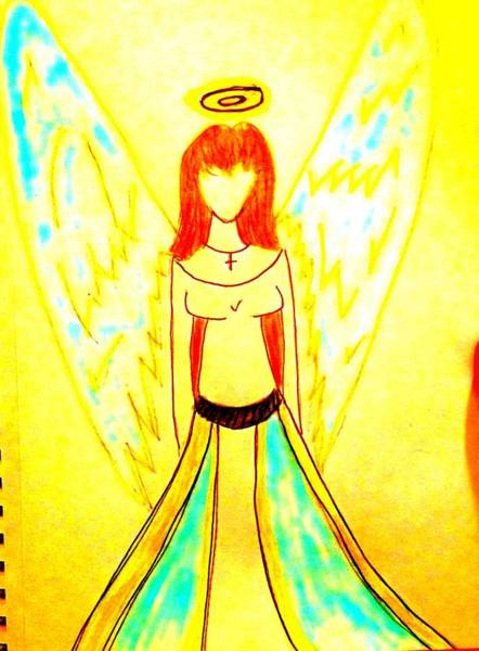 Wall Art - Painting - Pammi's Angel by Angelina Elliott