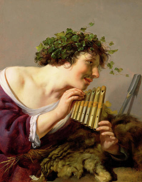 Aspect Wall Art - Painting - Pan Playing His Pipes by Paulus Moreelse