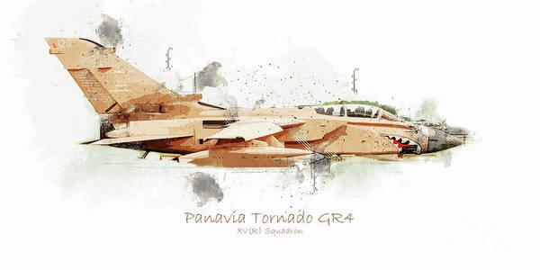 Tornado Digital Art - Panavia Tornado Gr4 by J Biggadike