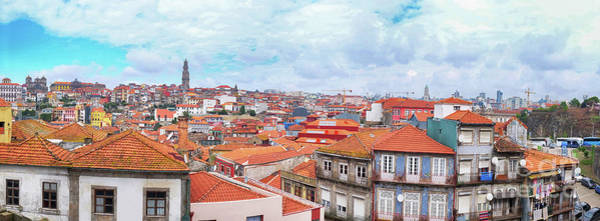 Photograph - panorama of old historic part of Porto by Ariadna De Raadt